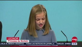 Infanta Leonor participa en el primer acto público de su carrera