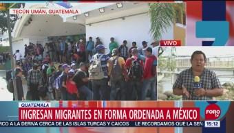 Ingresa tercera caravana de migrantes a Chiapas