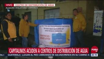 Instalan Centros Distribución Agua Cdmx Potable