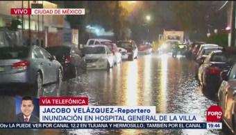 Inundación Hospital General La Villa Lunes
