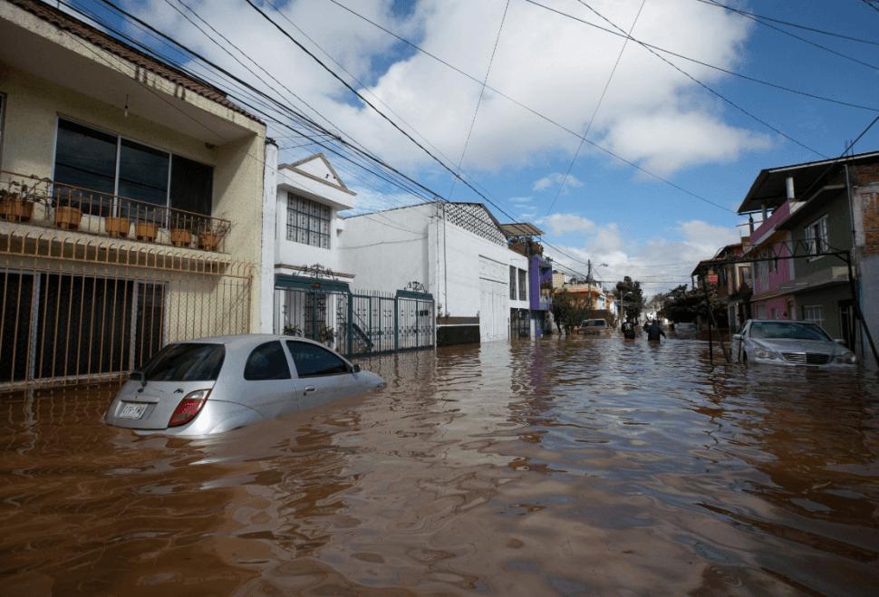 Inundaciones en Michoacán. (EFE)