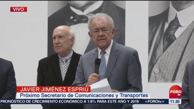 Javier Jiménez Espriú informa consulta NAIM
