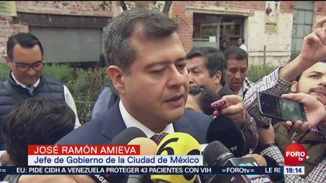 José Ramón Amieva da el saldo de las lluvias