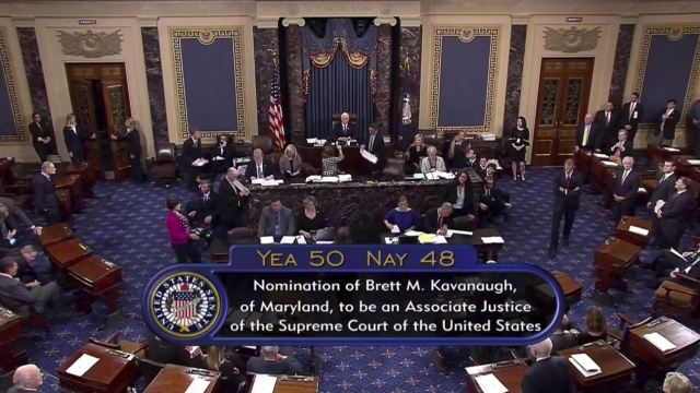 Senado de EU confirma a Kavanaugh para la Corte Suprema
