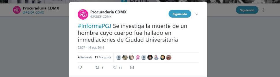 La PGJCDMX confirma que se investiga hallazgo