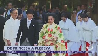 La princesa Ayako de Japón se casa y se convierte en plebeya