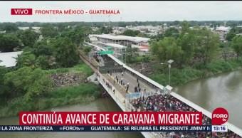Migrantes Hondureños Intento Entrar México Guatemala