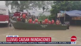 Ejército Apoya Población Afectada Inundaciones Álamo, Veracruz