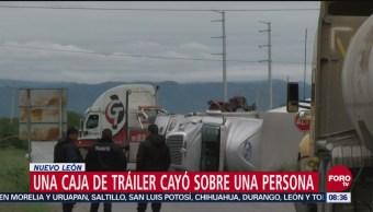 Volcadura Tráiler Deja Un Muerto Nuevo León
