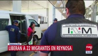 Liberan a 22 migrantes en Reynosa, Tamaulipas