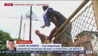 Llegan los primeros miembros de la caravana migrante a la frontera de México