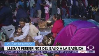 Llegan peregrinos del Bajío a la Basílica de Guadalupe