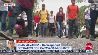 Llegan policías federales a Chiapas para ayudar en operativo migrante