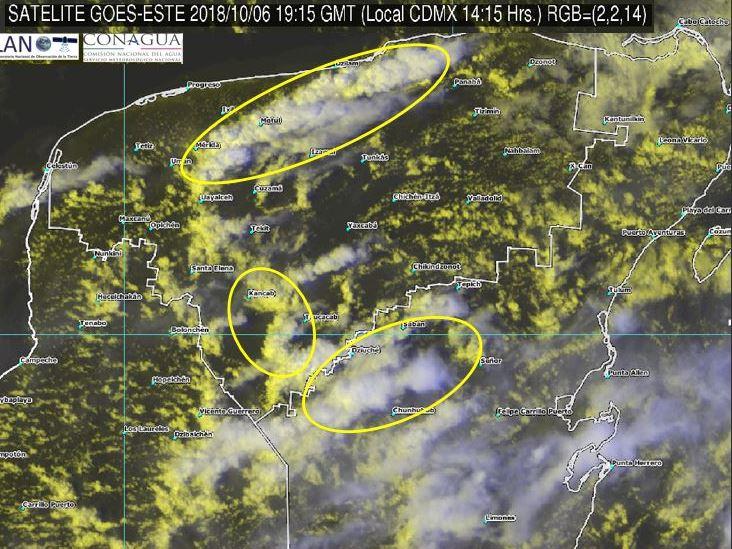Sistema de baja presión propicia tormentas en Quintana Roo