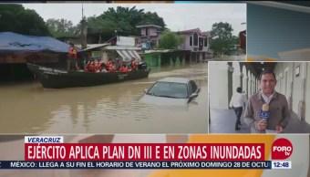 Lluvia deja tres personas muertas en Veracruz