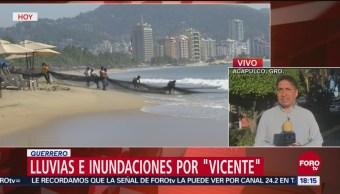 Lluvias e inundaciones en Guerrero, por efecto de Vicente