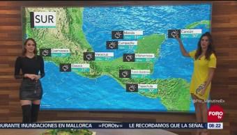 Lluvias en Quintana Roo y Yucatán por zona de inestabilidad