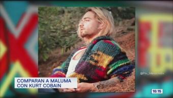 #LoEspectaculardeME: Maluma se tiñe el cabello y lo comparan con Kurt Cobain