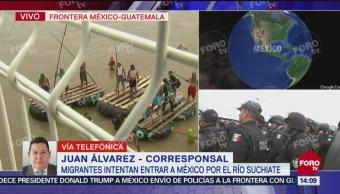 Manelich Castilla da parte del operativo para contener caravana migrante
