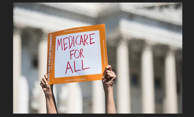Manifestación en torno al Medicare, frente al Capitolio. (Getty Images, archivo)