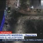 Manifestantes finalizan mitin, en el Zócalo de la Ciudad de México, por matanza del 2 de octubre de 1968, informan los reporteros de FOROtv