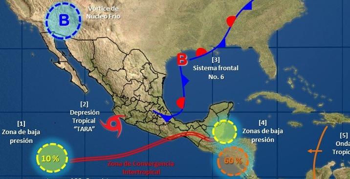 Clima Quintana Roo; zona de baja presión provoca lluvias