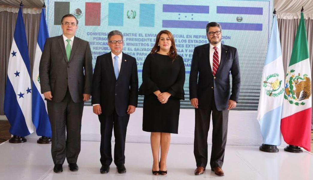 Ebrard acuerda con Honduras, El Salvador y Guatemala atender