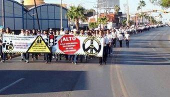 maestros reynosa tamaulipas marchan exigir seguridad escuelas