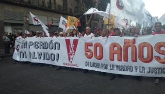 Marcha por 2 de octubre se lleva a cabo de forma pacífica