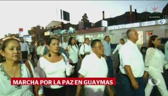 Marchan Por La Paz Guaymas Sonora
