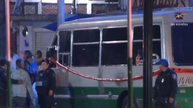 Matan a chofer de microbús en Iztapalapa