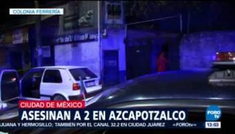 Matan a dos en la colonia Ferrería, Azcapotzalco