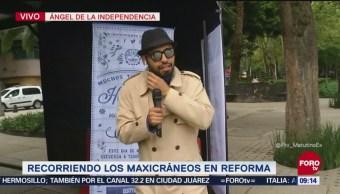 Bryan Mendoza recorre Mexicráneos de Reforma