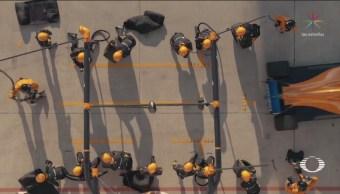 Mecánicos Pits Mclaren Entrenados Atletas Alto Rendimiento