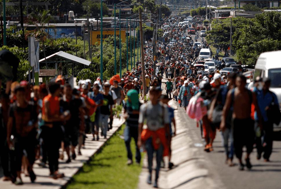 Migrantes centroamericanos pretenden llegar a EU. (Reuters)