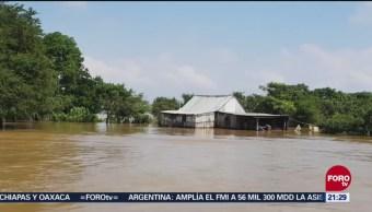 Miles De Afectados Desbordamiento De Río Papaloapan Tlacotalpan, Veracruz