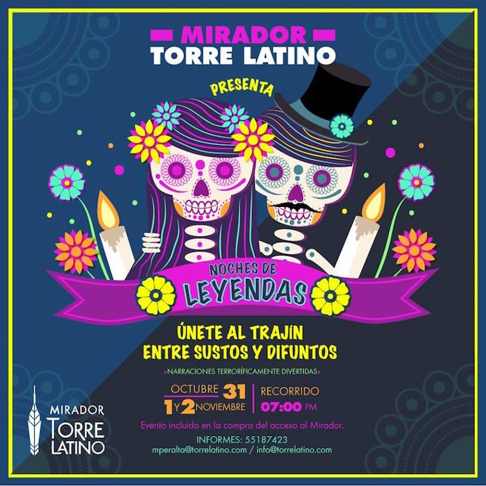 Día Muertos Noche Leyendas Torre Latinoamericana
