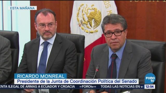 Monreal y Videgaray hablan sobre revisión acuerdo comercial