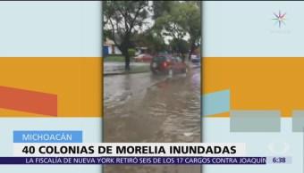 Morelia registra inundaciones en 40 colonias por 'Willa' y 'Vicente'