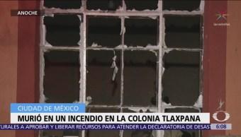 Muere hombre durante un incendio en la colonia Tlaxpana