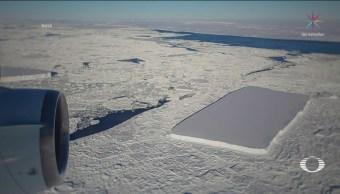 NASA Descubre Dos Icebergs Rectangulares Antártida