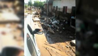 Nayarit continúa cubierta con lodo por lluvias del huracán 'Willa'