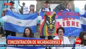 Nicaragüenses Manifestación Ángel De La Independencia Integrantes De La Comunidad Nicaragüense