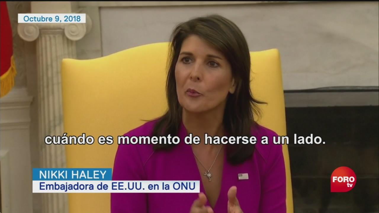 Nikki Haley Abandona Barco Donald Trump ONU
