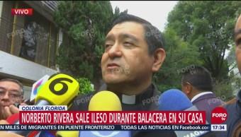 Norberto Rivera Sale Ileso Balacera Marilú Esponda, Directora De Comuniación Social De La Arquidiócesis De México Padre, Hugo Valdermar