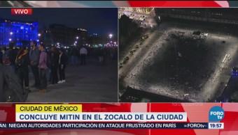 Manifestantes Desalojan Plaza Constitución Zócalo CDMX