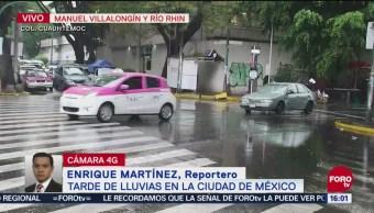 Se registra lluvia en poniente de la CDMX