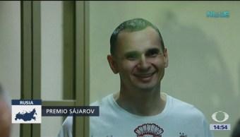 Oleg Sentsov, galardonado con el Sájarov