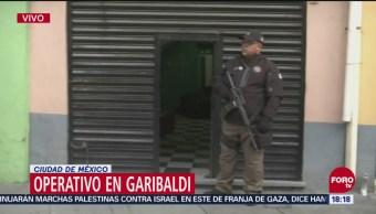 Operativo policial en Plaza Garibaldi