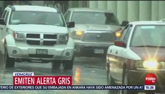 Emiten alerta gris por frente frío en Veracruz